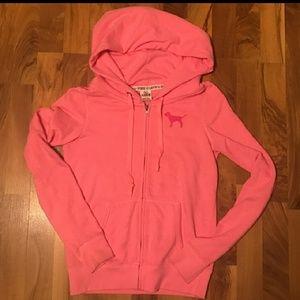 Love Pink Size Small Sweatshirt Zip up